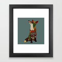 Fox Love Juniper Framed Art Print