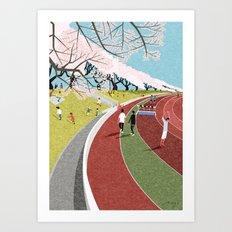 Musashino Athletic Stadi… Art Print