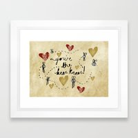 You're the Bees Knees Framed Art Print