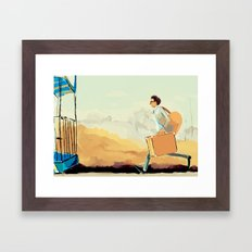 this time tomorrow, where will we be? (wes anderson) Framed Art Print