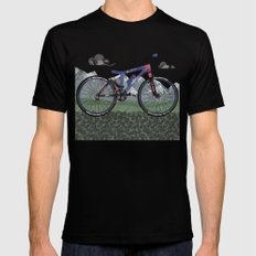 Mountain Bike Black SMALL Mens Fitted Tee