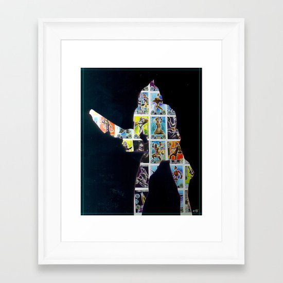 Cut StarWars Collage 4 Framed Art Print