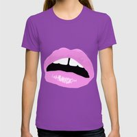 Lipsies Womens Fitted Tee Ultraviolet SMALL