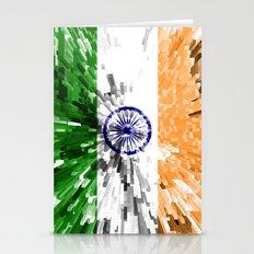 India Flag - Extrude Stationery Cards