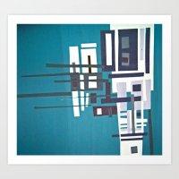 Cityblue Art Print