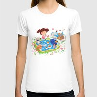 Picnic Womens Fitted Tee White SMALL