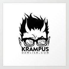 Krampus logo by Dawlism Art Print