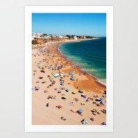 Albufeira Beach Art Print