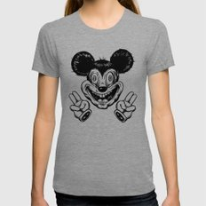 CreepMouse Womens Fitted Tee Tri-Grey SMALL
