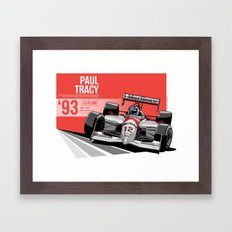 Paul Tracy - 1993 Cleveland Framed Art Print