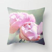 Pink Peony 2 Throw Pillow