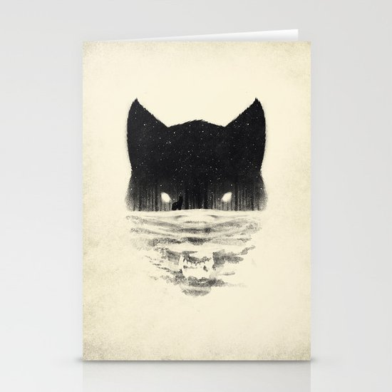Wolfy Stationery Card