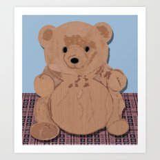 Wes T. Bear Art Print