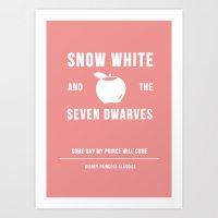 Disney Princesses: Snow White Minimalist Art Print