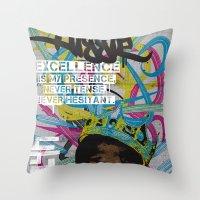 Excellence Throw Pillow