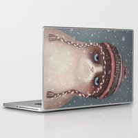 christmas Laptop & iPad Skins featuring Christmas Cat by Lime