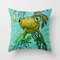 Psychoactive Frog Throw Pillow