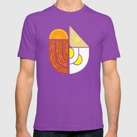 Breakfast Crest Mens Fitted Tee Ultraviolet SMALL