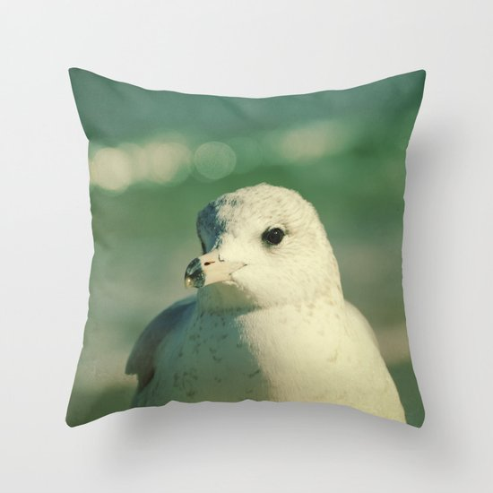 Seagull Close Up Throw Pillow