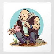 Roughneck Kirby Art Print