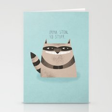 Sneaky Raccoon Stationery Cards