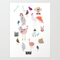 Animal collection Art Print