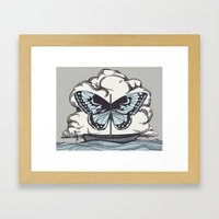 Butterfly Boat - We Are Not Troubled Guests Framed Art Print