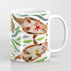 Five Otters – Green Seaweed Mug