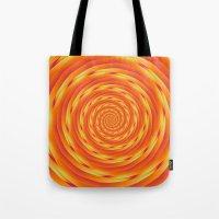 Orange Vortex Tote Bag