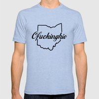 Ofuckinghio Mens Fitted Tee Tri-Blue SMALL