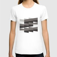 Aronde Pattern #02 Womens Fitted Tee White SMALL