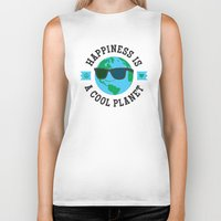 Happiness Is A Cool Plan… Biker Tank
