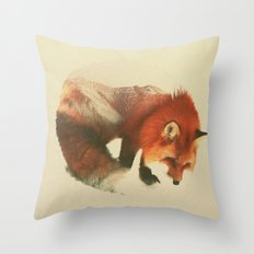 Snow Fox Throw Pillow