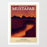 Retro Travel Poster Series - Star Wars - Mustafar Art Print