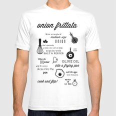 Onion frittata White SMALL Mens Fitted Tee