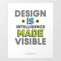 Visible Design Art Print