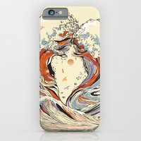 wave iPhone & iPod Cases featuring The Wave of Love by Huebucket