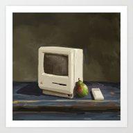 Art Print featuring Pear Computer by Uri Tuchman