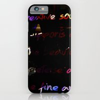 Glowing letters iPhone 6 Slim Case