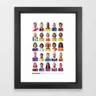 Framed Art Print featuring Playmakers by Daniel Nyari