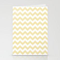 Chevron (Vanilla/White) Stationery Cards
