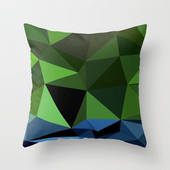 Polygon Heroes - Hulk Throw Pillow