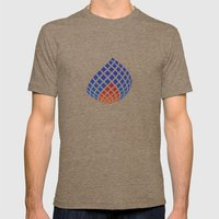Flame Mens Fitted Tee Tri-Coffee SMALL