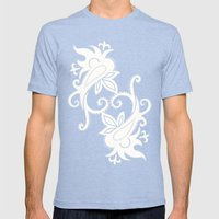 Paisley: Blue Combo Mens Fitted Tee Tri-Blue SMALL