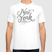 New York City Vintage Ty… Mens Fitted Tee White SMALL
