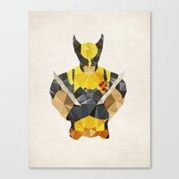 Polygon Heroes - Wolveri… Canvas Print