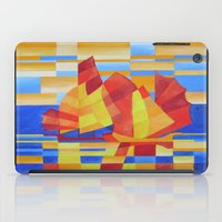 Sailing on the Seven Seas so Blue Cubist Abstract  iPad Case