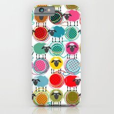 Bright Sheep and Yarn Pattern iPhone 6 Slim Case