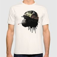 Born To Kill Mens Fitted Tee Natural SMALL