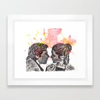 Han Solo and Princess Leia from Star Wars Framed Art Print
